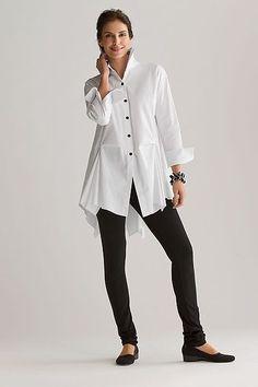 moda anti-idade anti-aging com camisas femininas