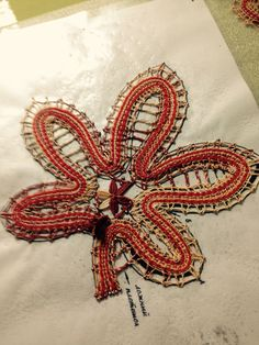 Russian bobbin lace _ leaves