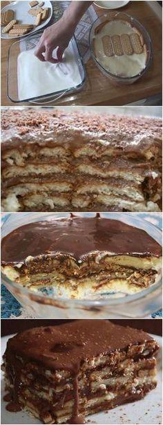 Pavê de chocolate com biscoitos de maizena,FICA TUDO DE BOM PARA UMA SOBREMESA NO DOMINGO!! VEJA AQUI>>>Em uma panela, coloque o creme de leite, o chocolate em pó, a margarina e leve ao fogo Mexa sem parar por uns 5 minutos até que a manteiga se dissolva totalmente. #receita#bolo#torta#doce#sobremesa#aniversario#pudim#mousse#pave#Cheesecake#chocolate#confeitaria Cheesecakes, Brazillian Food, Crystal Cake Stand, How Sweet Eats, Diy Food, Sweet Recipes, Mousse, Creme, Food Porn