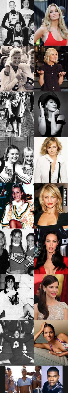 Cheerleaders before they were celebrities. - #funny, #lol, #fun, #humor, #gags, #lolpics, #funnypics,