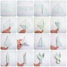 ペーパーナプキンを簡単アレンジ!イースターにぴったりな「うさぎナプキン」の折り方|by Suganao / ARTICLE / ARCH DAYS