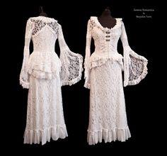 Dress Asinina, Size M, Victorian lace 2 piece, Steampunk lace dress, ivory silver, Somnia Romantica by Marjolein Turin