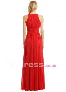 Floor-Length Zipper A-Line Chiffon Long Bridesmaid Dresses