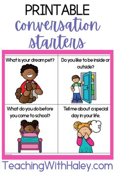 Have you heard of the 2×10 strategy for behavior management? The first time I heard about it was many years ago from my administrator. Many teachers on our campus were struggling daily with classroom behavior and referring students to the office on a regular basis. We knew something needed to change, so she introduced us to this strategy. Learn more and get your printable conversation starters now!