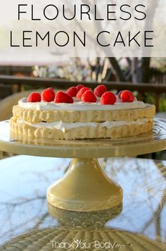 Meyer Lemon Cake #grainfree