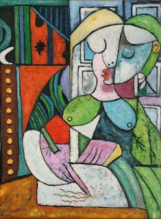 Pablo Picasso, Woman Writing http://garygauthier.blogspot.com/2012/04/writing-as-habit-not-job-not-chore.html