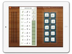 Subtraction Tables app by Mobile Montessori. It takes practice, practice, and practice to learn the math tables! With this app from Mobile Montessori children will be able to cycle through subtraction sets over and over again until it becomes locked in their memory. Ages 3 & up.