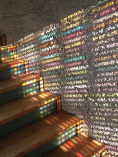 Italy-based multidisciplinary practice Armin Blasbichler Studio created a stained-glass wooden door with PANTONE swatches, for a home.  Called the 'TIII: Inception Door', the door is compiled from framed slides of PANTONE swatches, laminated glass, and a wood frame.  When natural light streams through the stained glass, the hall gets filled with square patterns of various colors.  On each swatch, the name of the color is handwritten to identify it in comparison to the surrounding environment.