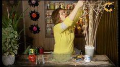 Ботаника. Интерьерная композиция с бамбуковыми палочками