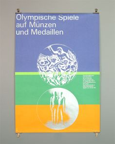 Otl Aicher and the 1972 Munich Olympics - The Olympic Games on Coins and Medals Exhibition Poster