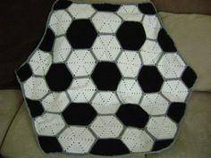 soccer crochet afghans | Crochet Soccer Ball Blanket Handmade Kids, Boys, Girls, Baby, Afghan ...