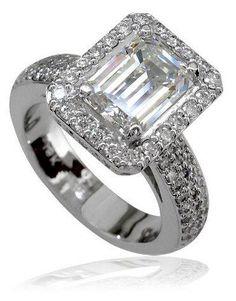 Large Diamond Engagement Rings Emerald Cut 19