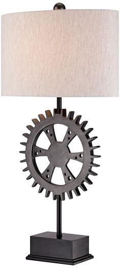 Industrial Gear Bronze Table Lamp -