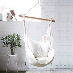 Hey Boss can we trade our office chairs in for these?! We would be 120% more productive if we got to lounge in these for the day (exact stats may vary...) #theblock #newofficechairs #pleaseboss #hammock #swing http://ift.tt/2pKxw1p