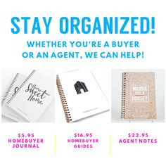 We have all sorts of journals to keep your buying process organized and easy! Check em out on the website!