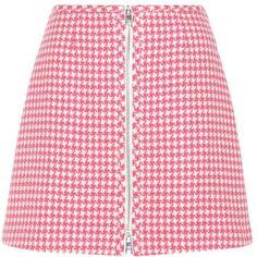 Prada Virgin Wool Miniskirt ($1,260) ❤ liked on Polyvore featuring skirts, mini skirts, white, white skirt, prada, prada skirt, short white skirt and short skirts