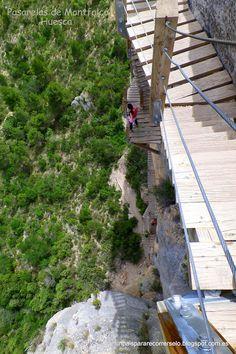 Un país para recorrérselo: Del Congost de Mont-rebei a las Escaleras de Montfalcó. Un sendero de vértigo, no apto para todos los públicos.