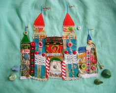 Castle on Linen sweet crafty goddess above! I love this!