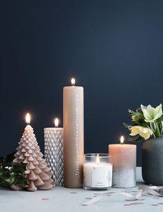 Scandinavian Christmas: holiday decor by Broste Copenhagen Christmas Candle, Noel Christmas, Scandinavian Christmas, Winter Christmas, Christmas 2018 Trends, Christmas 2017, Copenhagen Christmas, Broste Copenhagen, Collor