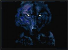 Counted Cross Stitch Pattern  Dark Wolf