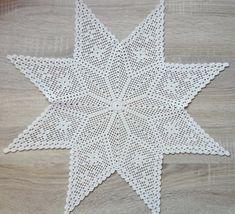 Best 6 Oval crochet doily new hand crocheted doilies ecru doily – SkillOfKing. Crochet Stars, Thread Crochet, Filet Crochet, Crochet Stitches, Crochet Hooks, Christmas Crochet Patterns, Crochet Doily Patterns, Crochet Doilies, Christmas Knitting