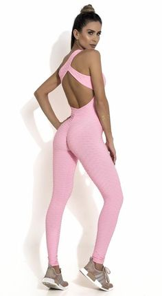 3393c30efe31 Canoan - Fitness Jumpsuit - Honeycomb Scrunch Booty One Piece Pink. Top Rio  Shop
