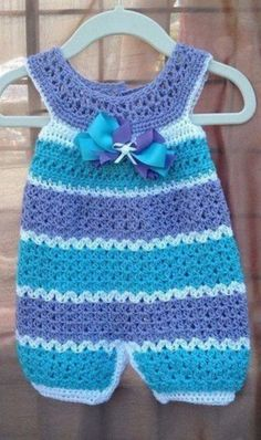 Crochet baby jumpsuit