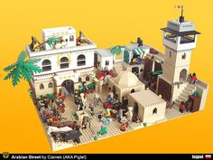 Arabian Street by Piglet Ciamek on Flickr. Built for Colossal Castle Contest V - Honorable Mention in the 'Miscellaneous' category. Villa Minecraft, Lego Indiana Jones, Lego Castle, Lego Design, Lego Models, Arabian Nights, Lego Building, Lego Brick, Furniture For Small Spaces
