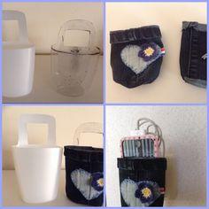 Handig voor het opladen van je telefoon , ipod . leuk om te maken en dat van een lege shampoofles en een oude spijkerbroek Ipod, Ipods