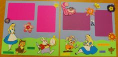 12 x 12 Pre-made Disney's Alice in Wonderland Scrapbook Pages
