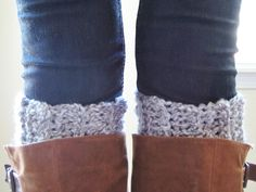 Grey Crochet Boot Cuffs by ClassEStitches on Etsy, $10.00  Fall fashion, winter fashion, handmade