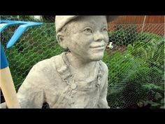 Little Farmer, Cement Sculpture | Ultimate Paper Mache