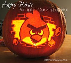 Tutorial: How to make an Angry Bird pumpkin your kids will love #BabyCenterBlog