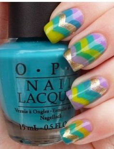 Loving this color combo!  #nailart #naildesign #nailpolish #nails #beauty #nailideas #summernailart #springnailart