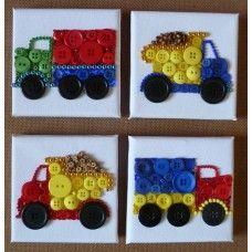 Button Art Lorries and Dumper trucks