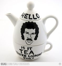 Lionel Richie Teapot - HELLO Is it TEA you're looking for?