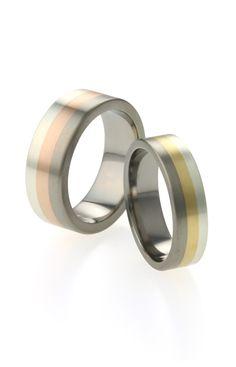 Mix you wedding #titanium #wedding #rings with precious #silver #rosegold and #yellowgold for a lovely contrast. #ti2titanium #madeinuk www.ti2titanium.com