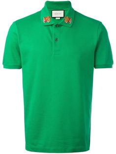 Designer Polo Shirts for Men Embroidered Polo Shirts, Gucci Men, Collar Shirts, Shirt Designs, T Shirt, Dress Shirts, Man Shop, Mens Fashion, My Style