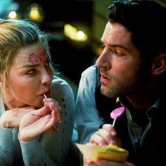 Chloe and Lucifer True Detective, Detective Aesthetic, Films Netflix, Netflix Series, Series Movies, Movies Showing, Movies And Tv Shows, Tom Ellis Lucifer, Lucifer Gif