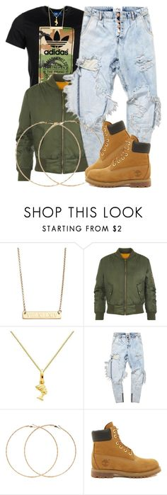 """""""11 7 15"""" by miizz-starburst ❤ liked on Polyvore featuring adidas Originals, Argento Vivo, WearAll, Forever 21 and Timberland"""