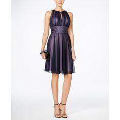 0f635dc65624 Jessica Howard Beaded Embellished Mesh A-Line Dress Women - Dresses - Macy's