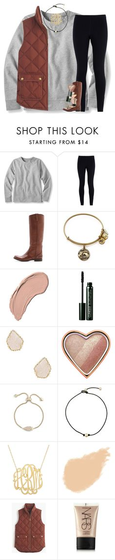 """another fall set for you! ☀️"" by classynsouthern ❤ liked on Polyvore featuring L.L.Bean, NIKE, Madewell, Alex and Ani, NYX, Clinique, Kendra Scott, Too Faced Cosmetics, NARS Cosmetics and J.Crew"