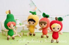 Free Patterns: ♪♫ ¡Fiesta, fiesta! ¡Las frutillas felices vienen con sorteo! ♪♫   Gallimelmas e Imaginancias
