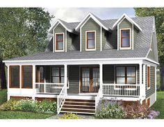 Plan W80660PM: Metric, Canadian, Country, Narrow Lot, Cottage House Plans & Home Designs