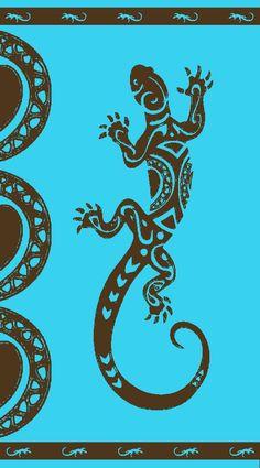 Serviette jacquard salamandre