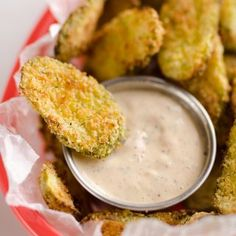 Who doesn't love pickle chips? You are going to love these Parmesan Dill Fried Pickle Chips. Air Fry Recipes, Snack Recipes, Cooking Recipes, Healthy Recipes, Oven Recipes, Cooking Tips, Low Fat Air Fryer Recipes, Air Fryer Recipes Pickles, Air Fryer Recipes Appetizers