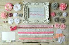 Headband Party Kit-  Create 10 Pink, Gray, and White DIY Headband, Baby Shower Headband Kit, Birthday Party Headband Kit on Etsy, $45.00