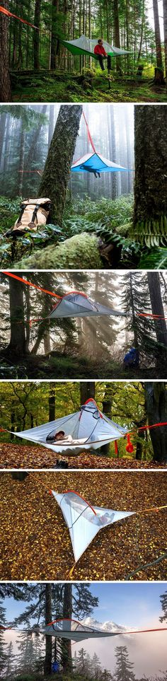 Why sleep in a tent when you could sleep in a nest?! The Flite+ by Tentsile straps to trees, giving you airborne accommodation in the outdoors! While most tents become really messy ordeals when the floor is wet, cold, hard, or infested, the Tentsile Flite+ has no problem.