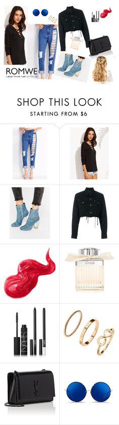 """romwe.com"" by oladda on Polyvore featuring moda, Public Desire, Blackyoto, Bobbi Brown Cosmetics, Chloé, NARS Cosmetics, H&M, Yves Saint Laurent, Matthew Williamson e ASOS"