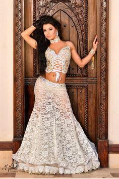 Lace bellydance costume